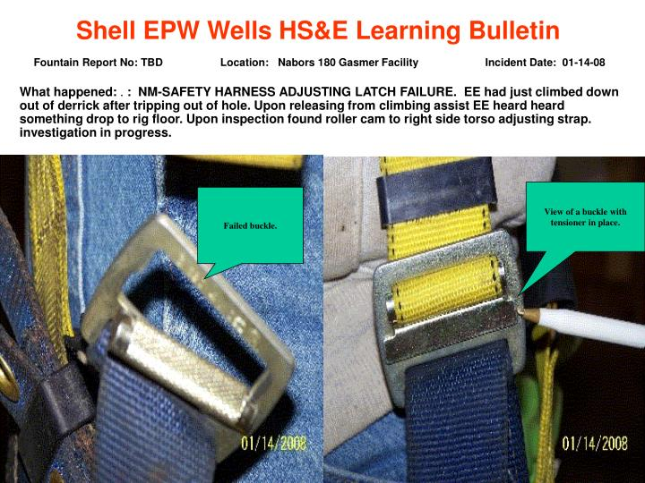 Shell EPW Wells HS&E Learning Bulletin