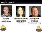 meet our guests