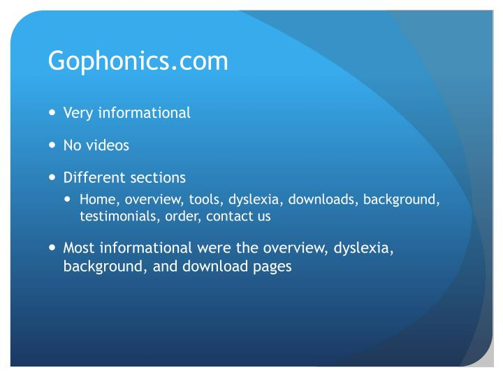 Gophonics com