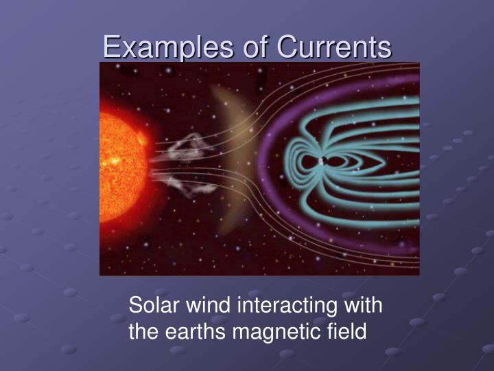 Examples of Currents