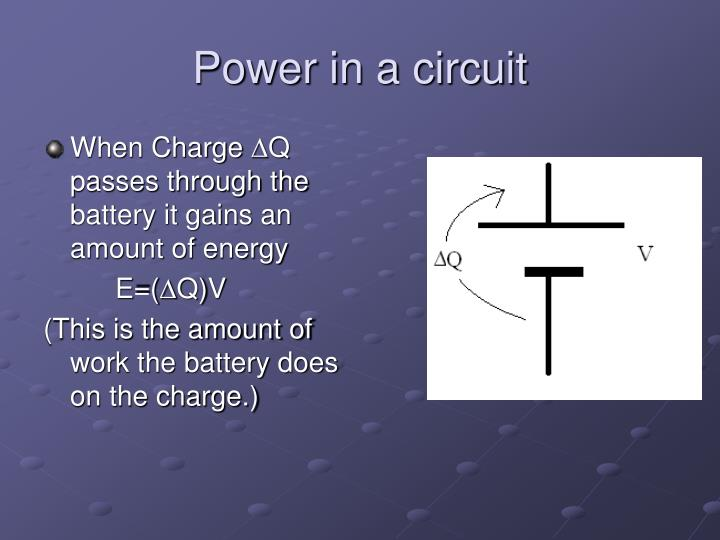 Power in a circuit