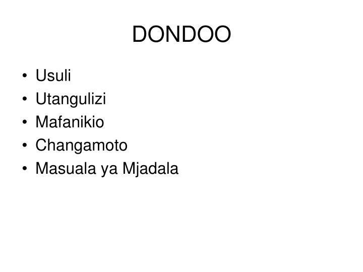 Dondoo