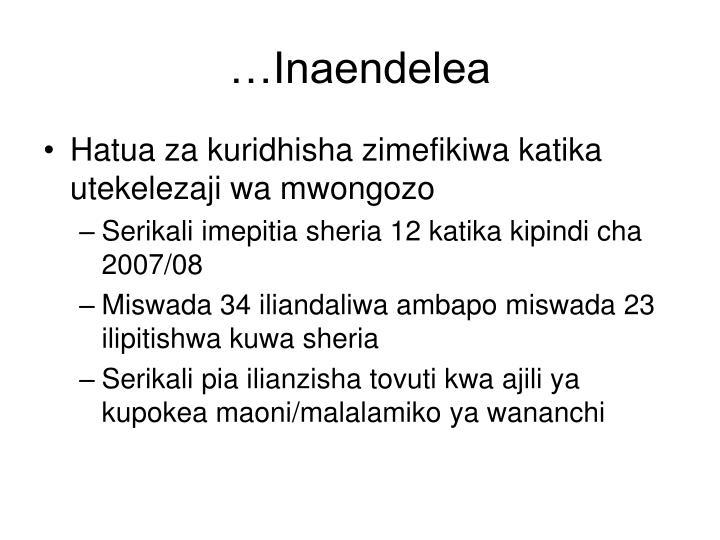 …Inaendelea