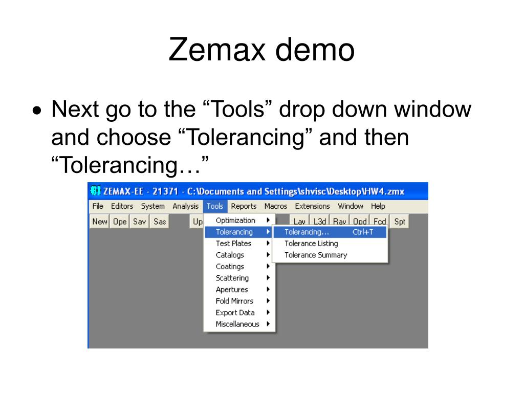 Zemax Operands