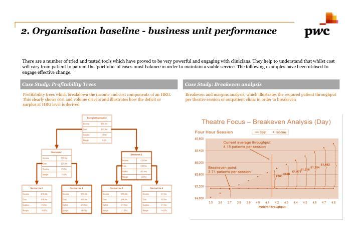 2. Organisation baseline - business unit performance
