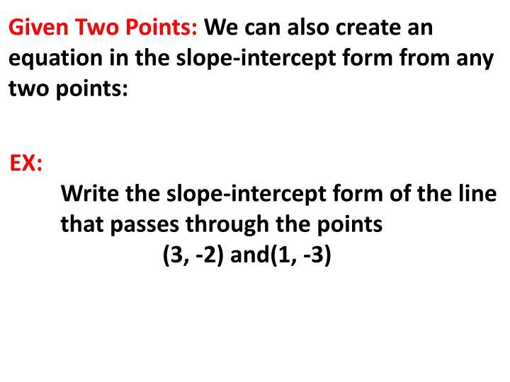Ppt 53 Slope Intercept Form Powerpoint Presentation Id3033382