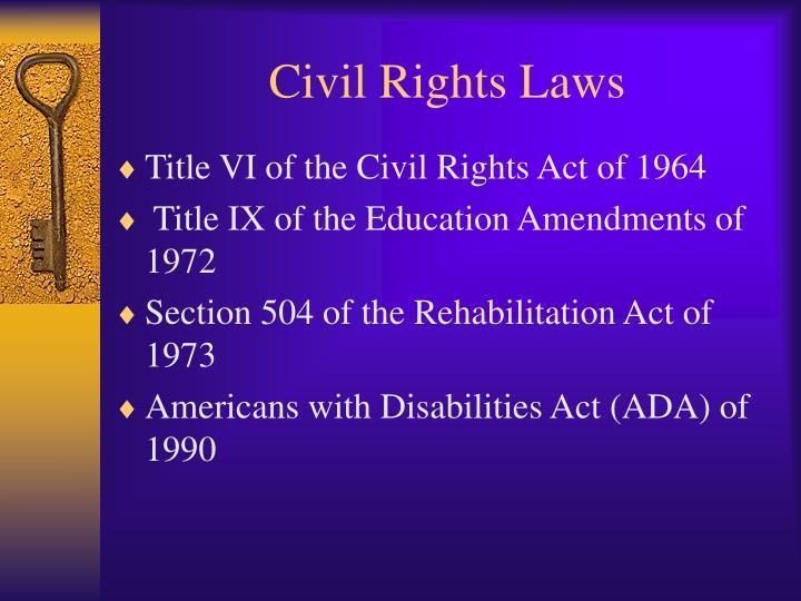 Civil rights laws