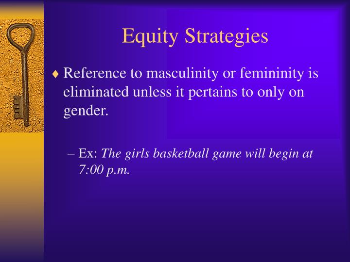 Equity Strategies