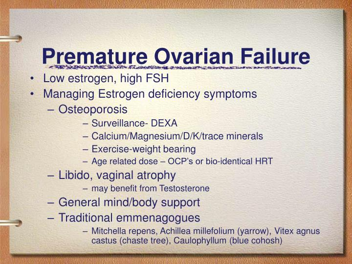 Premature Ovarian Failure