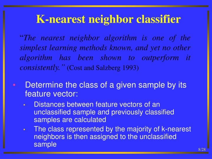 K-nearest neighbor classifier