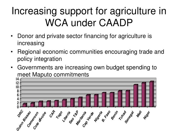 Increasing support for agriculture in WCA under CAADP