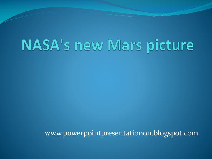 nasa s new mars picture n.