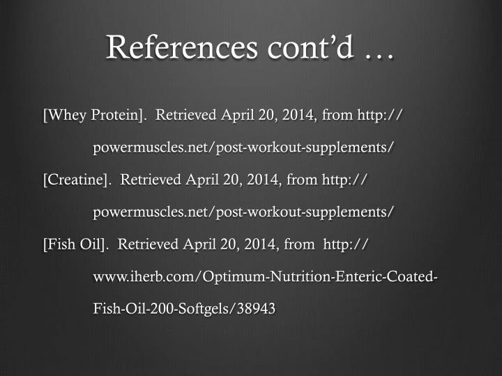 References cont'd …