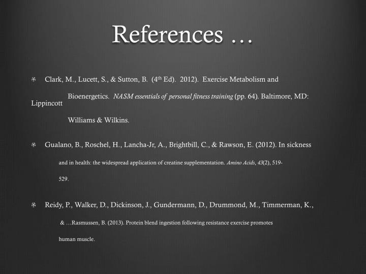 References …