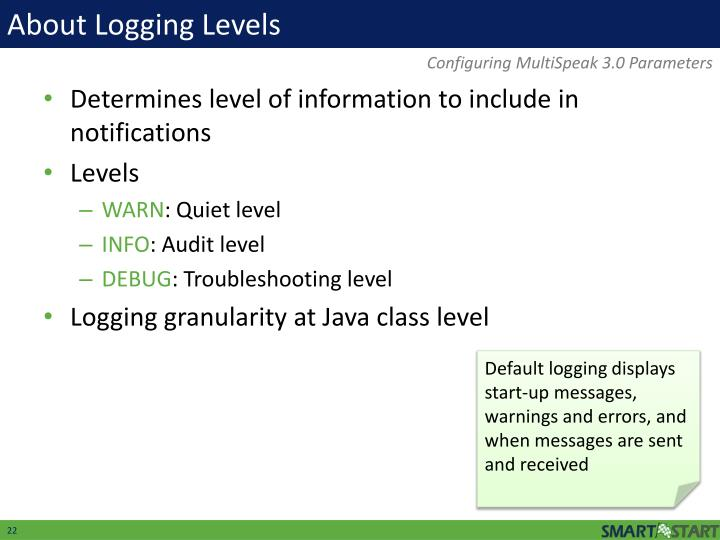 About Logging Levels