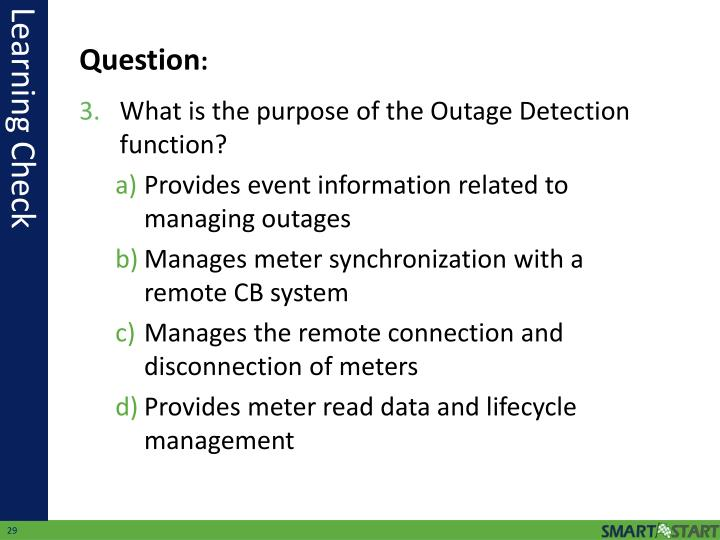 What is the purpose of the Outage Detection function?
