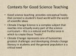 contexts for good science teaching
