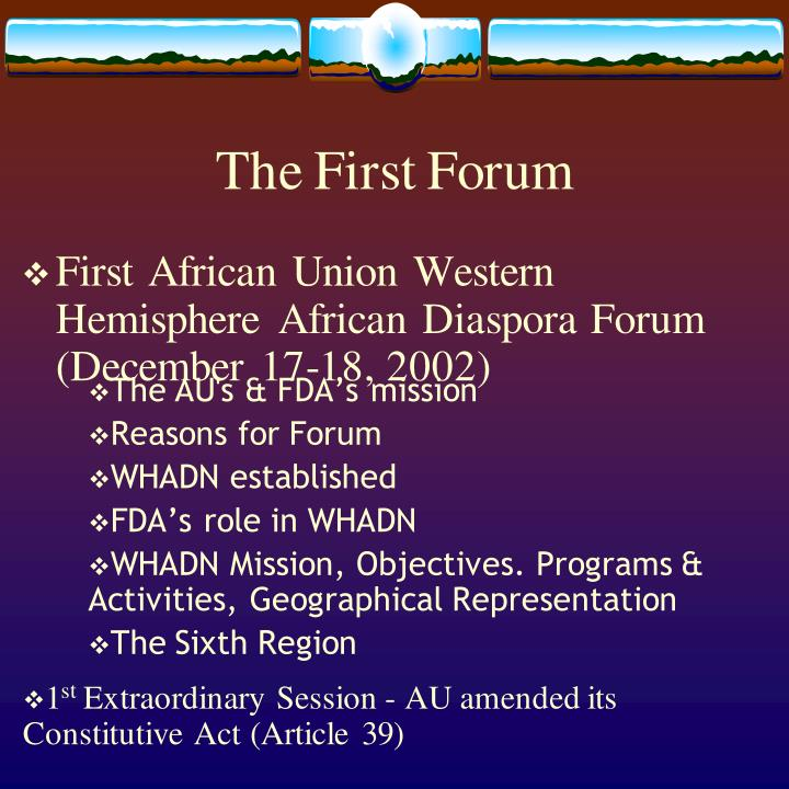 The First Forum