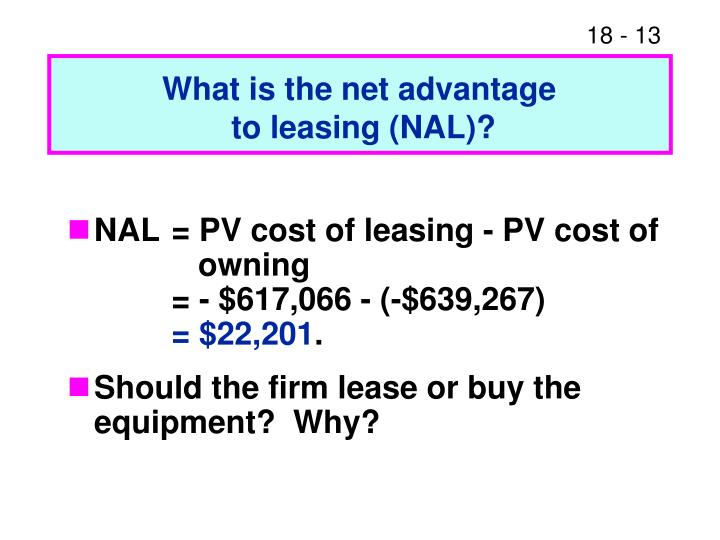 What is the net advantage