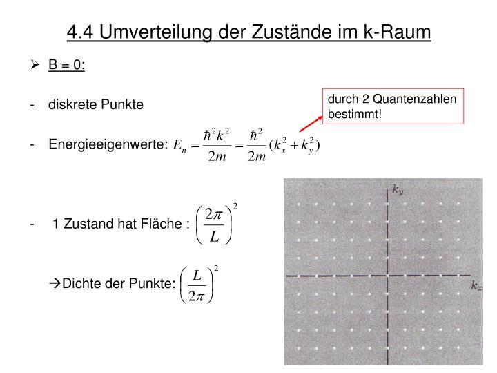 4.4 Umverteilung der Zustände im k-Raum