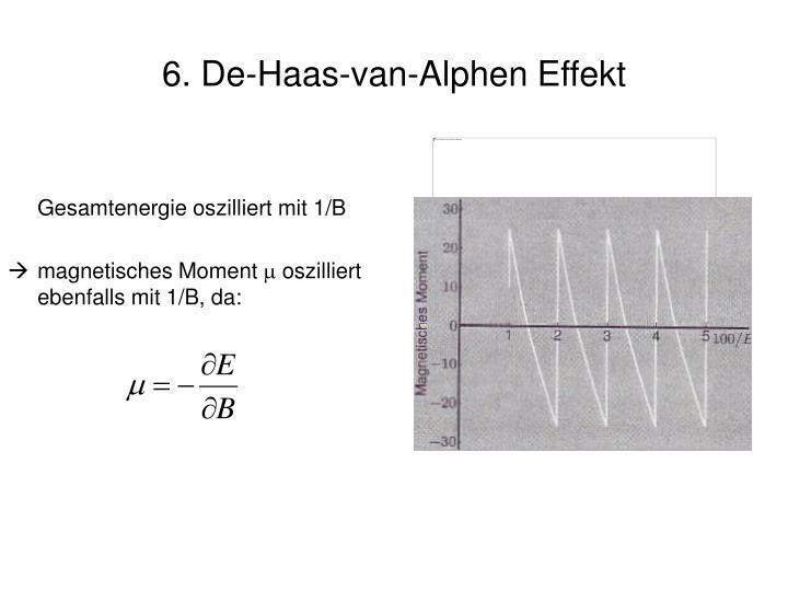 6. De-Haas-van-Alphen Effekt