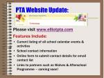 pta website update