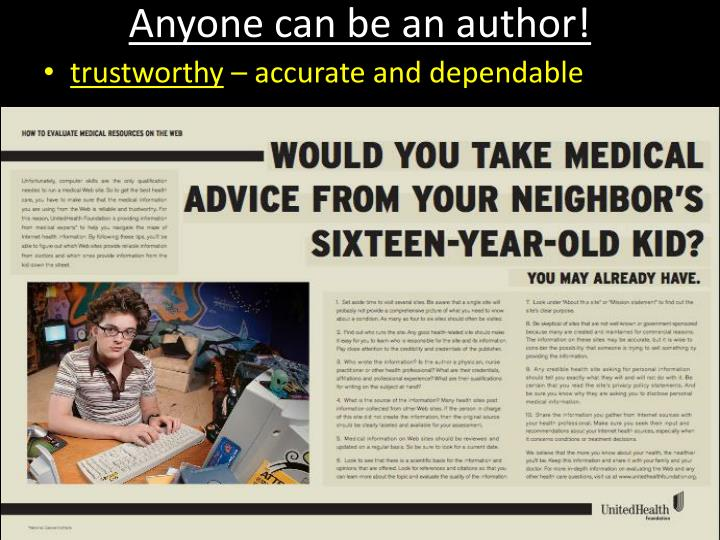 Anyone can be an author!