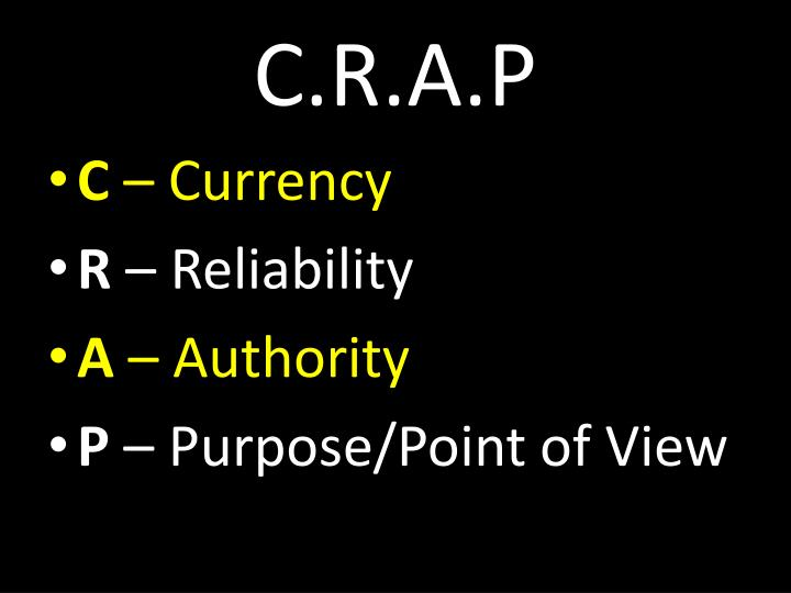 C.R.A.P