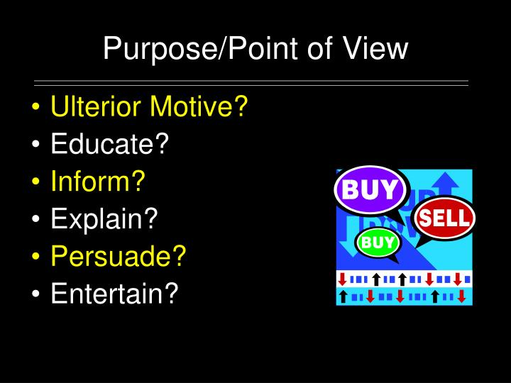 Purpose/Point of View