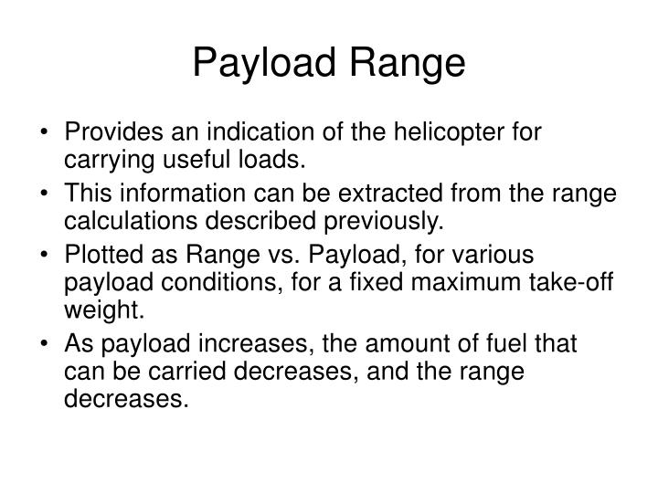 Payload Range