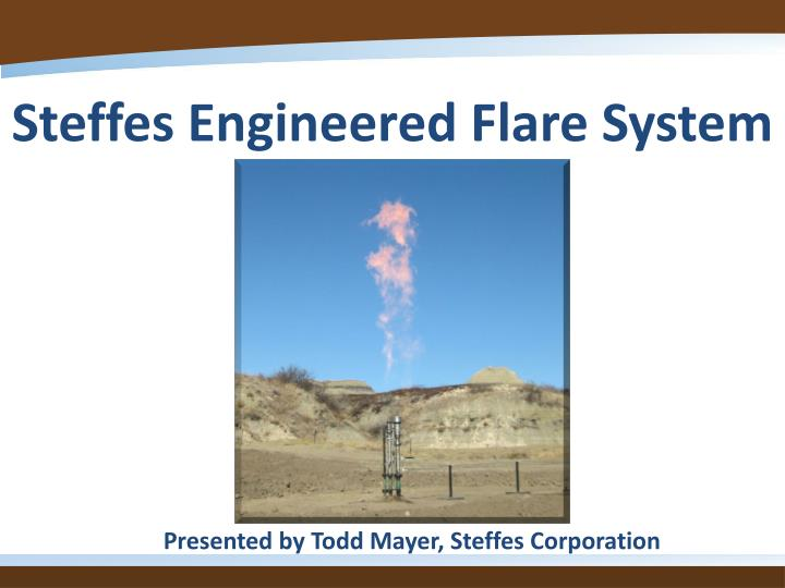 steffes engineered flare system n.
