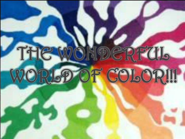 the wonderful world of color n.