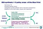 eea synthesis 5 policy areas of the blue print
