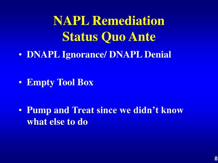 NAPL Remediation