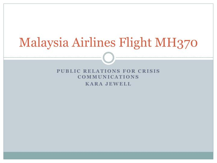 malaysia airlines flight mh370 n.