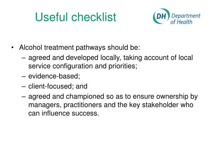 Useful checklist
