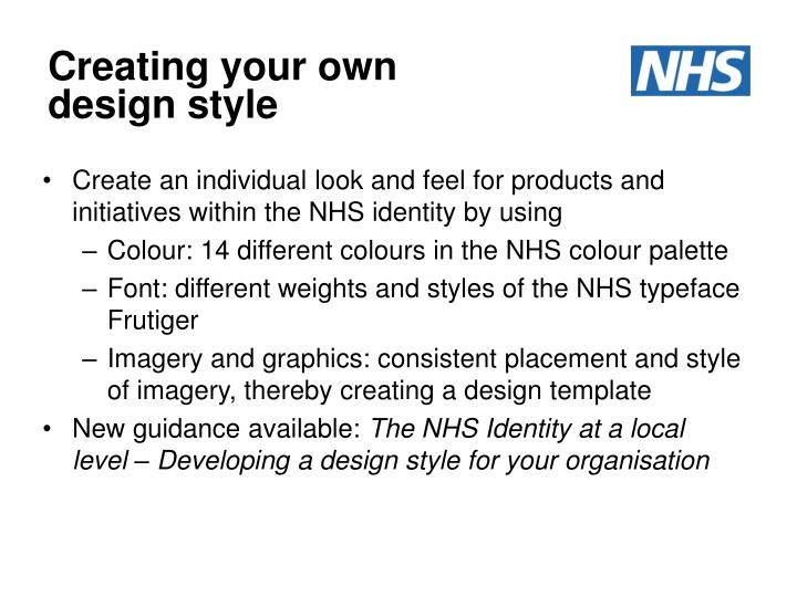 Creating your own design style