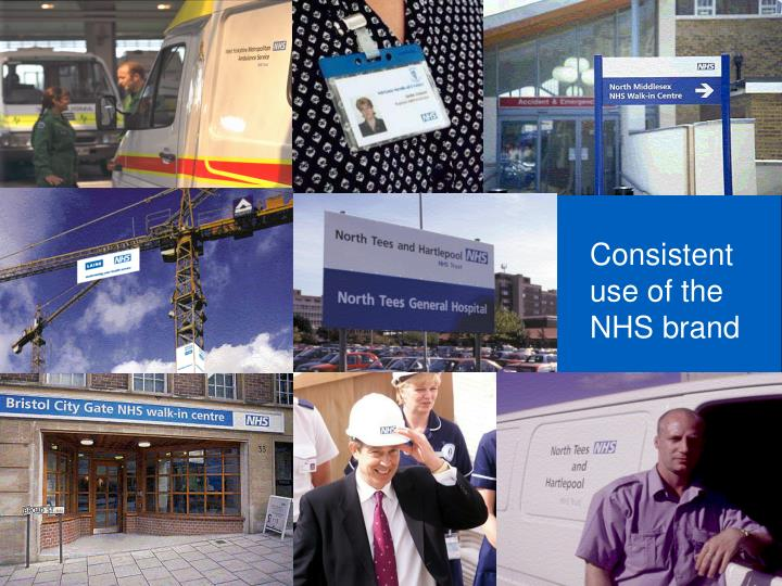 Consistent use of the NHS brand
