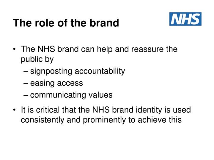 The role of the brand