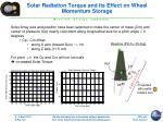 solar radiation torque and its effect on wheel momentum storage