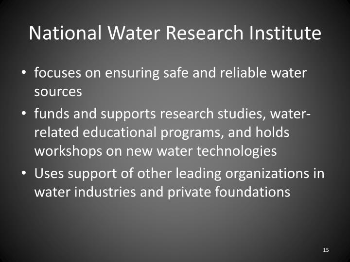 National Water Research Institute