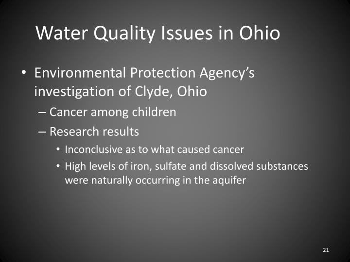 Water Quality Issues in Ohio
