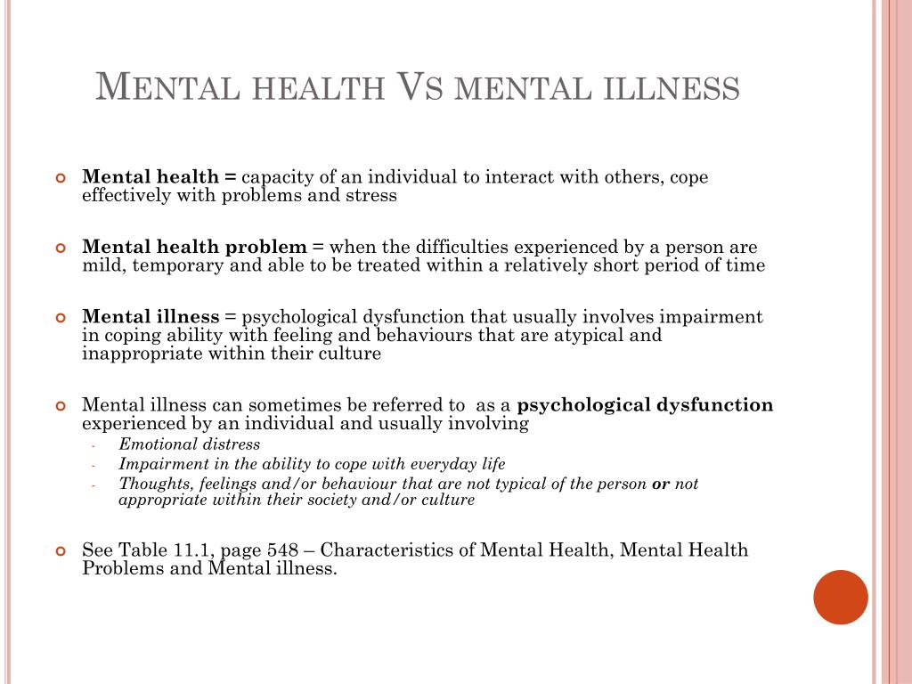 PPT - Normality, Mental Health and Mental Illness PowerPoint