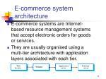 e commerce system architecture