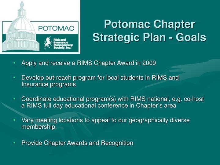 Potomac Chapter Strategic Plan - Goals