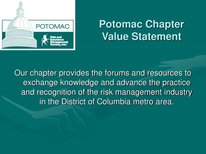 Potomac chapter value statement