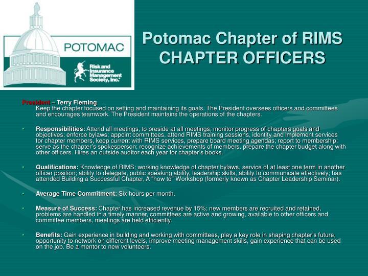 Potomac Chapter of RIMS