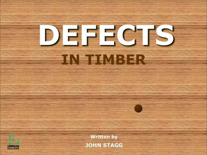 defects of timber There are 4 type of defects in timber the first is natural defects it is occur naturally in living trees such as fungal and insects damage the second type of defect is.