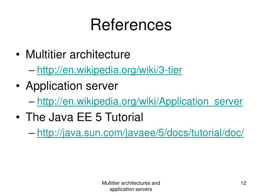 PPT - Multi-tier architectures and application servers PowerPoint