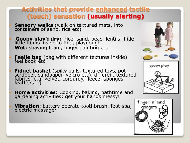 Activities that provide